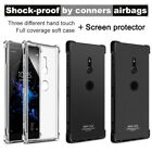 For Sony Xperia XZ2 IMAK Flexible Soft TPU Cover Clear Case +Screen Protector