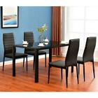 New 5/7 Piece Dining Table Set Different style tables Glass Metal Furniture US
