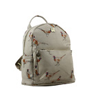 House of Tweed Waxed Pheasant/Bird Print Small Backpack/Rucksack