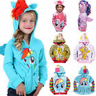Внешний вид - Kids Baby Girls Boys Hooded Jacket Coat Hoodie My Little Pony Toddler Outerwear