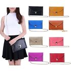 Colorful Envelope Clutch Purse Shoulder Handbag Fashion Chain Strap Crossbody