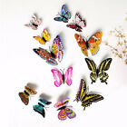 12PC Luminous 3D Butterfly Decals Art Wall Sticker Magnetic Home Decor Gift