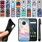 "For Motorola Moto G5 Plus 5.2"" Chevron Design TPU SILICONE Case Cover + Pen"