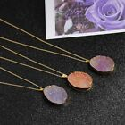 7 Color Natural Stone Crystal Gemstone Pendant Beauty Lady Irregular Necklace