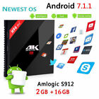 H96 Pro+ Android 7.1 3GB + 32GB Octa Core Media 2.4G/5GHz 4K Wifi Audio S912 Box
