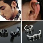 2pcs Stainless Steel Non-piercing Earring Clip On Earrings Jewelry For Women Men