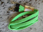 """LIME GREEN Cotton Western 1"""" Wide Roping Rein With Scissor Snaps New Horse Tack"""