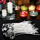 Внешний вид - Pack of 100 Pre Waxed Candle Wicks for Candle Making With Sustainers 20cm Long