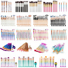 3D Mermaid Makeup Brush Powder Foundation Eye shadow Blush Cosmetic Brushes Set