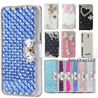 Girls bling Leather flip slots wallet case cover for LG K10 2018/LG K30/K11 2018