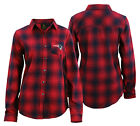 OuterStuff NFL Juniors New England Patriots Button Up Flannel Shirt, Red/Blue