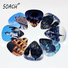 SOACH 50pcs 0.46mm Funny Acoustic Electric Guitar Picks Musical Accessories