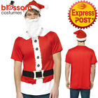 CA483 Santa Kit Shirt Hat Beard Christmas Xmas Costume Fancy Dress Party Outfit