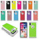 For Apple iPhone X 5.8 inch Colorful Anti Shock Sparkle Bling HYBRID Case Cover