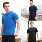 Comfortable Casual Summer Short-Sleeved Mens T-shirt Solid Color Slim Sport Tee