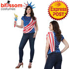 CA704 Miss Independence Costume Patriotic Fourth July America Shirt Torch Crown