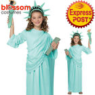 CK1156 Girls Statue Of Liberty Historical USA Fancy Dress Party American Costume