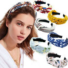 Knot Hairbands Headbands Women Girls Fabric Floral Print Hairband Wide Hair Band