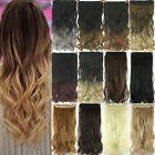 blonde to strawberry blonde hair - Balayage Ombre Clip In Hair Extensions Full Head Long Thick Wavy Curly 1Piece