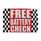 free battery check - Free Battery Check #1 Indoor Store Sign Vinyl Decal Sticker