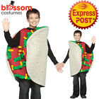 CK1161 Boys Mexican Taco Funny Food Novelty Fiesta Fancy Dress Up Costume Outfit