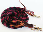 Внешний вид - Horse Roping Western Barrel Contest Reins Nylon Braided Snap 7' 607491-497