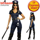 K580 Sexy Jumpsuit Police Office Cops Uniform Womens Role Play Costume Outfit