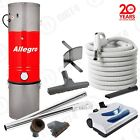 New Allegro Central Vacuum 3,000 sq ft 30' Electric Delux Powerful Package