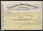 Share Scrip -  Mining. 187? Lorne Quartz Mining Co Ltd - Stawell Vic. Un-issued