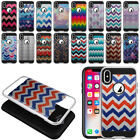 """For Apple iPhone X 5.8"""" Chevron Shockproof Brushed Hybrid Phone Case Cover"""