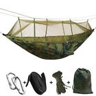 Portable Outdoor Camping Mosquito Net Nylon Hammock Hanging Bed Sleeping Swing W