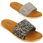 Ladies Glittery Flip Flop Sandal Sipper Open Toe Party Slip On Size UK 2 3 4 5 6