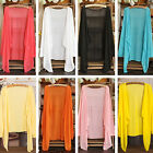 Fashion Summer Womens Cotton Beach Sunproof Clothing Solid Color Causal US