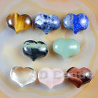 20x25mm Carved Puff Heart Love Shaped Stone Healing Palm Pocket Crystal