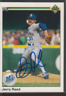 Autographed 1990 Upper Deck Jerry Reed - Mariners
