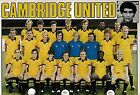 CAMBRIDGE UNITED FOOTBALL TEAM PHOTO 1982-83 SEASON