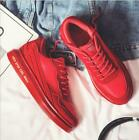 Men's Shoes Mesh Lace Up Round Toe Hit Color Sneakers Creepers Breathable yoooc