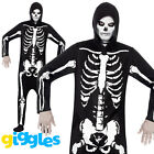 Skeleton Costume Adult Mens Scary Evil Halloween Fancy Dress Outfit