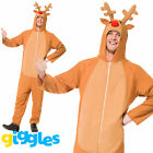 Reindeer Costume Mens Womens Christmas Rudolph Xmas Fancy Dress Outfit