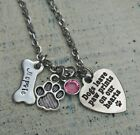 Pet Memorial Personalized name Dog Bone Necklace Loss Death Remembrance Custom