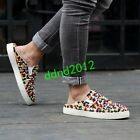 High-end Men Punk Leather Colorful Rivet Slip On Flat Casual Sandals Slippers