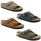 Birkenstock Zurich Leather Soft Footbed Strap Sandals Mens Womens Unisex Shoes