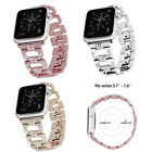 Women Stainless Steel Band with Rhinestone for Apple Watch Series 3 2 1 38/42MM