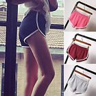 UK Womens Girls Casual Running Sport Shorts Yoga Gym Jogging Waistband Pants