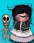 Lets Go Dancing by Abril Andrade Griffith Frida Kahlo Skull Giclee Art Print