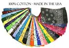 "Hav-A-Hank USA Made 100 Cotton Paisley Bandannas Bandanas 22""X22"""