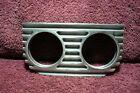 VTG STYLE FINNED TWIN GAUGE DASH MOUNT PANEL AUTO OIL AMP WATER ROD ACCESSORY
