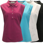 McIlhenny Women's Sleeveless Solid Pique Polo Golf Shirt,  by Tabasco