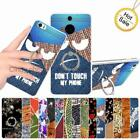 For HTC One X S720E G23 Kickstand Ring Hard Case Cover Denim Spider Butterfly