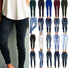 Womens Skinny Denim Pants Jeggings Stretch High Waist Jeans Pencil Trousers Plus